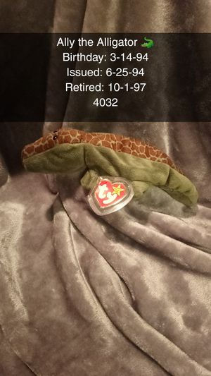 TY Beanie Baby Original Ally the Alligator 🐊 for Sale in Plano, TX