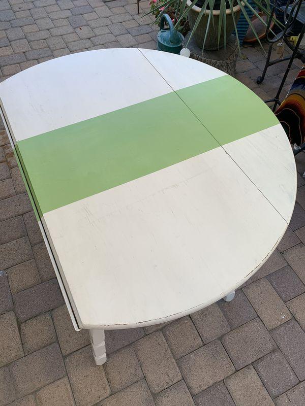 Small white kitchen table