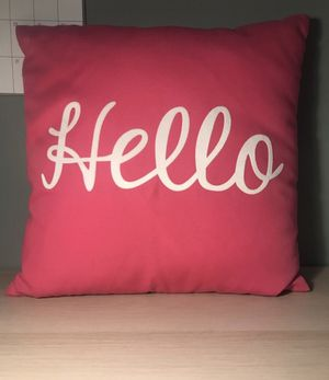Hot Pink Throw Pillow for Sale in Prince George, VA