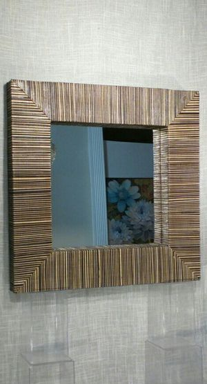 "Textured Woven Wall Mirror 22""x22""x2"" *PICKUP ONLY* home decor, household for Sale in Mesa, AZ"