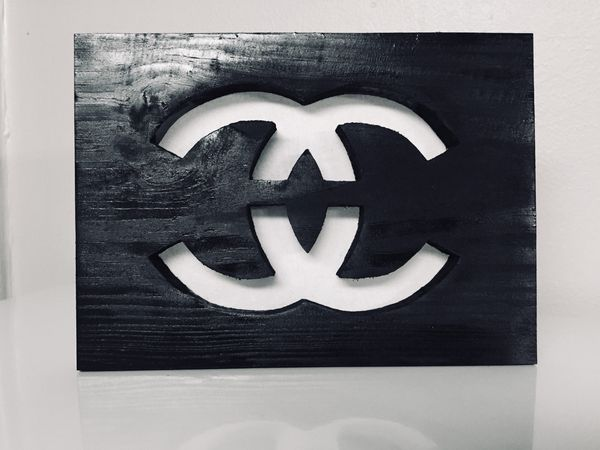 Double C Wood Sign w/hanger