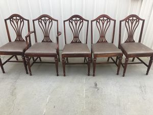 5 antique Victorian dining chairs - gorgeous for Sale in Fresno, CA