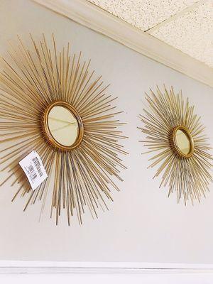 SUN BURST Designer Mirror Gold Set ON SALE for $72.99 for Sale in Nashville, TN