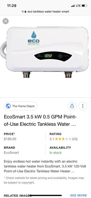 Tankless water heater for Sale in Springfield, VA