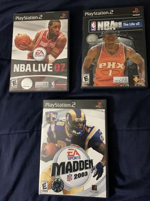 PS2 games all three for $15!!!! for Sale in Orlando, FL