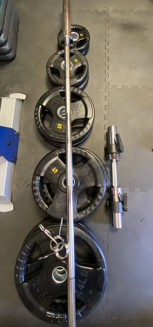 230 lbs of Olympic Weights - Rubber Coated for Sale in Los Angeles, CA