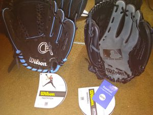 Baseball gloves and softball gloves for Sale in St. Louis, MO