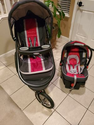 FastAction jogging stroller and snugride 35 infant car seat Chili Red for Sale in San Jose, CA