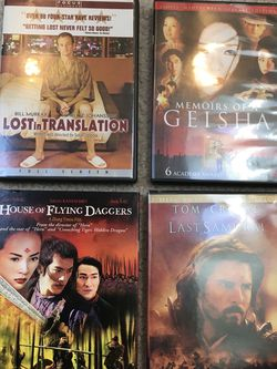 DVDs Lost In Translation , Memoirs Of A Geisha , Last Samurai, House Of Flying Daggers for Sale in Issaquah,  WA