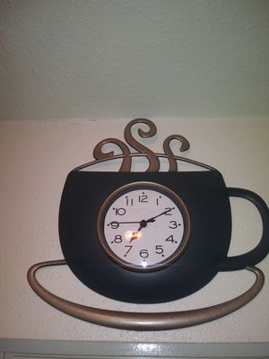 Coffee wall clock for Sale in Houston, TX