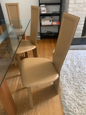 Leather dining room chairs for Sale in Philadelphia, PA