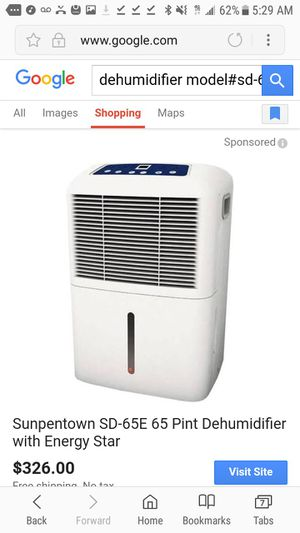 Sunpentown SD-65E 65 Pint Dehumidifier with Energy Star for Sale in Tracy, CA