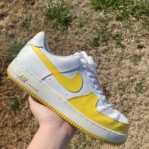yellow/white air force 1 size 12 mens for Sale in Murfreesboro, TN