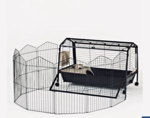 Rabbit cage with playpen for Sale in Wichita, KS
