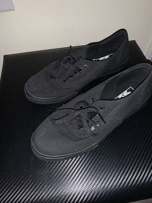 Vans all black low rise for Sale in Raleigh, NC