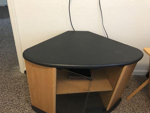 Small entertainment center/corner table