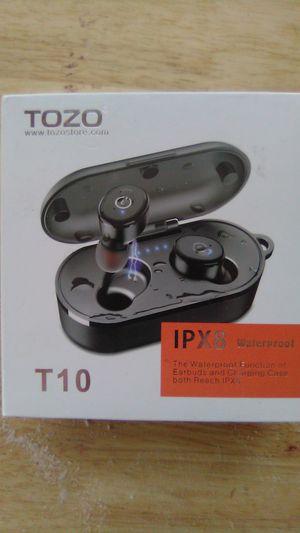 Tozo T10 IPX8 wireless waterproof earbuds for Sale in Vancouver, WA
