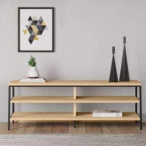 MODERN OAK TV ENTERTAINMENT STAND for Sale in Glendale, CA