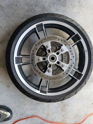 "19"" Harley Davidson Streetglide Complete Front Wheel for Sale in Odenton, MD"