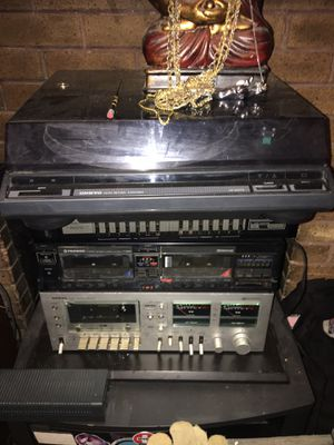 Onkyo tape player, Onkyo turn table, pioneer two player and equalizer I sold separately or in pick and choose for Sale in Eugene, OR