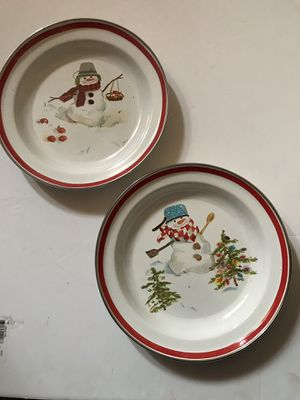 Vintage Enameled pie plates for Sale in Glendale Heights, IL