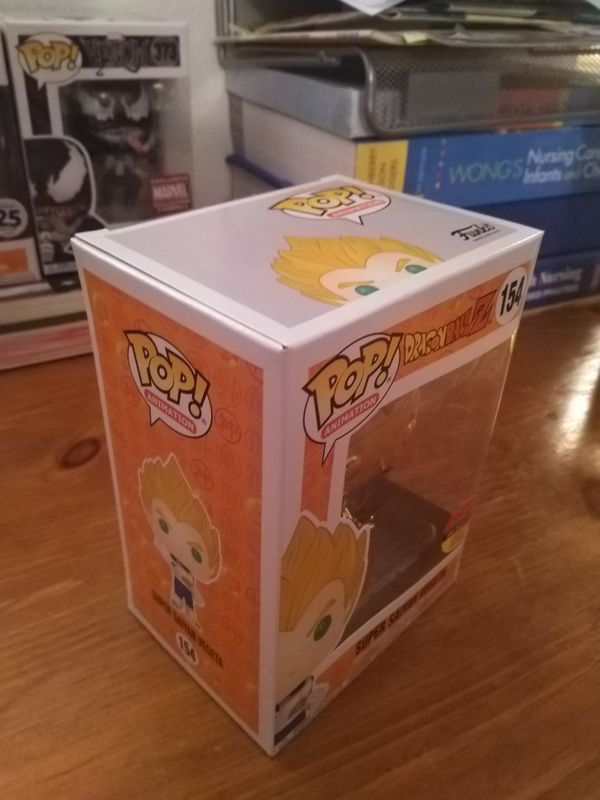 DBZ Dragon Ball Z Gold Chrome Vegeta Toy Tokyo Exclusive Funko Pop