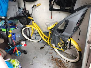 Cruiser bike with attached toddler seat for Sale in Orlando, FL