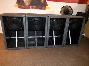 "Mackie 1200 watt powered speakers and 4 15"" subs for Sale in Homestead, FL"
