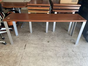 Office table 6 feet long 18 inch wide 29 inches tall for Sale in Visalia, CA