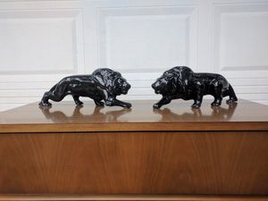 Vintage 2 black Lions for Sale in Duluth, GA