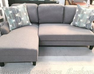 FREE DELIVERY ‼️NEW GREY SECTIONAL SOFA WITH PULLOUT BED for Sale in Oviedo,  FL
