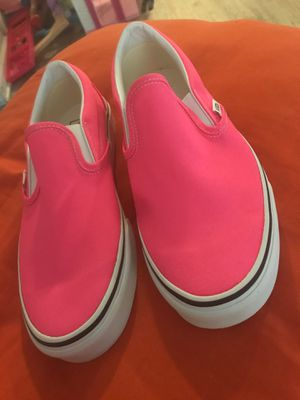 Vans (slip ons) pink for Sale in Fort Worth, TX