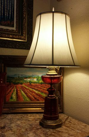 Antique Red glass lamp. for Sale in Tacoma, WA
