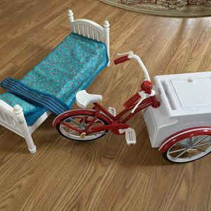 My Girl Doll Bed And Bike Cart for Sale in Frederick, MD