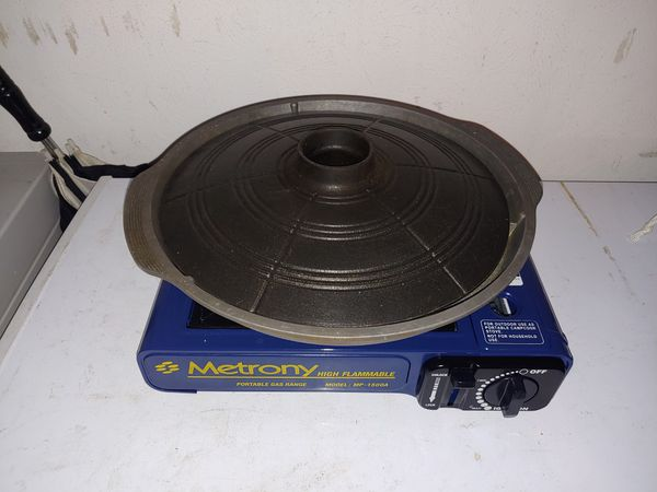 Gas burner with stone grill