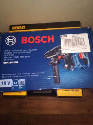 Bosch 18 volt rotary hammer for Sale in Portland, OR