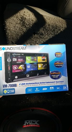soundstream double din stereo for Sale in Phoenix, AZ