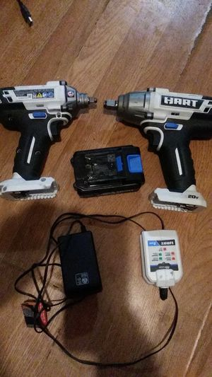 Two impact half inch 1/4 inch. N one battery plus charger for 100.00 for Sale in Sacramento, CA