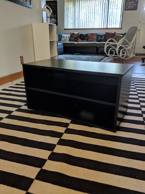 Black TV Stand Bookshelf bookcase entertainment center for Sale in Los Angeles, CA