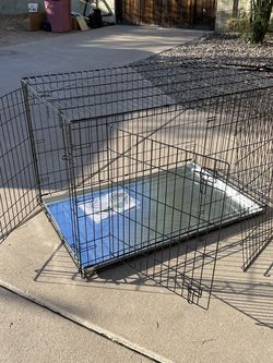 XL Double Door Dog Kennel With Metal Pan for Sale in Paradise Valley,  AZ