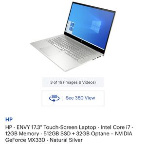 "HP Envy 17.3"" Touch Screen Laptop for Sale in Garden Grove, CA"