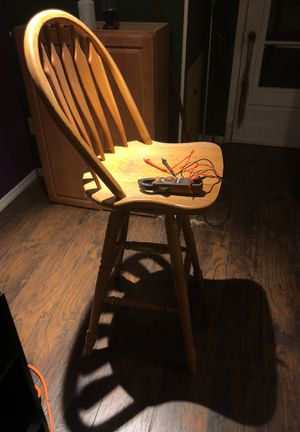 2 bar stool oak for Sale for sale  Red Bank, NJ