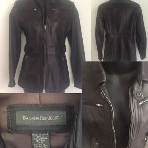 BANANA REPUBLIC LEATHER JACKET XS for Sale in Newberg, OR