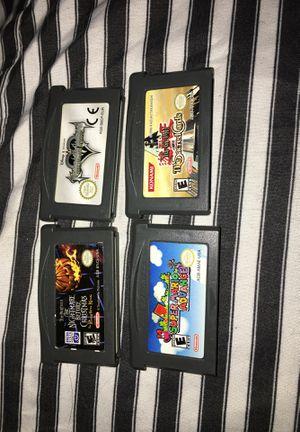 4 game boy advance unique fun games kingdom hearts nightmare yugioh Mario for Sale in Brier, WA