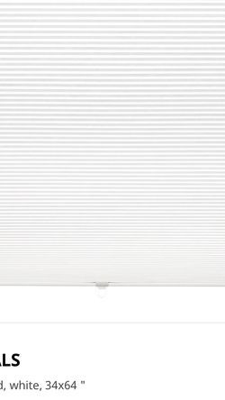 IKEA Hoppvals Blinds - 4 of 34x64 for Sale in Levittown,  NY
