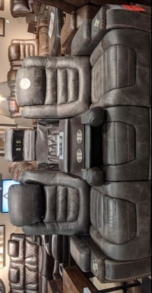Game Zone Bark Power Reclining Living Room Set with Adjustable Headrest byAshley for Sale in Hyattsville, MD