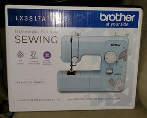 brand new lightweight, full-size sewing machine (essential edition) BLUE for Sale in Agawam, MA
