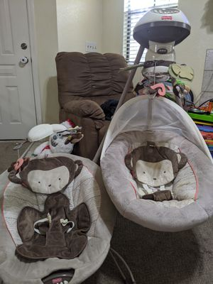 Matching Fisher-Price swing and table bouncer for Sale in Gilbert, AZ
