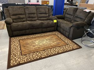 Brown reclining sofa and love seat for Sale in Victorville, CA