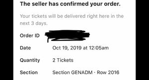 2 Rex Orange County concert tickets for 2/15/2020 in Miami for Sale in Loxahatchee, FL